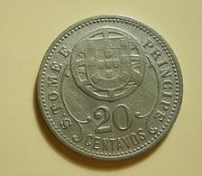 Portugal S. Tomé E Príncipe 20 Centavos 1929 - Portugal