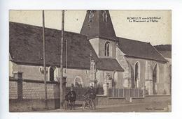 CPA Romilly Sur Andelle Le Monument Et L'Église Campion - Pont-de-l'Arche