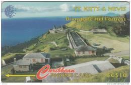ST. KITTS & NEVIS ISL.(GPT) - Brimstone Hill Fort, CN : 55CSKA(0 With Barred), Used - St. Kitts En Nevis