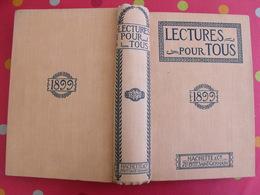 Lecture Pour Tous 1898-1899. Hachette Reliure éditeur.  Thibet Torture Panhard Nézière Japon Shah Perse Chine Tatouage - Books, Magazines, Comics