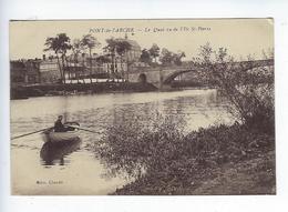 CPA Pont De L'Arche Le Quai Vue De L'île Saint Pierre - Pont-de-l'Arche