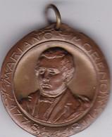 MARIANO MORENO CENTENARIO INDEPENDENCIA ARGENTINA 1910 MEDALLA SIZE 3.4cm DIAM WEIGHT 14grs-BLEUP - Celebrities