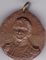 SAN MARTIN PUEYRREDON CENTENARIO INDEPENDENCIA ARGENTINA 1910 MEDALLA SIZE 3cm DIAM WEIGHT 14grs-BLEUP - Celebrities