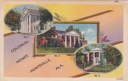 Alabama Huntsville Three Colonial Homes Curteich - Huntsville