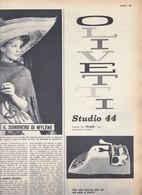 (pagine-pages)PUBBLICITA' OLIVETTI  Oggi1960/23. - Books, Magazines, Comics