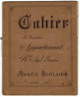 Ecole D'Autrefois - Cahier De Composotions - 1893-1894 - 3 Scans - Buvards, Protège-cahiers Illustrés