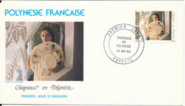 French Polynesia FDC 24-5-1983 With Cachet - FDC