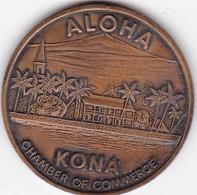 ALOHA KONA CHAMBER OF COMMERCE HAWAII 1973 MEDALLA SIZE 3.7cm DIAM WEIGHT 19grs-BLEUP - Villes