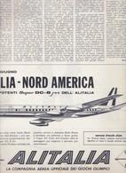 (pagine-pages)PUBBLICITA' ALITALIA  Oggi1960/23. - Books, Magazines, Comics