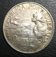PORTUGAL. 1910 REPUBLIC. 1 ESCUDO LARGE SILVER COIN IN VERY NICE GRADE. - Portugal