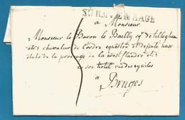 (D047) LAC De S'Gravenhage (SGRAVENHAGE En Noir)  Vers BRUGES Du 4/7/1816 - Nederland