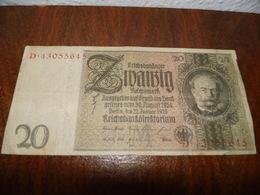 Billets De 20marks 1924 - [ 3] 1918-1933 : Weimar Republic