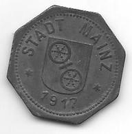 *notgeld Mainz10 Pfennig 1917 Zn 8711.3 - Germany