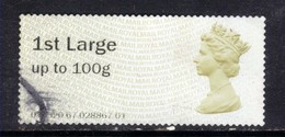 GB 2014 QE2 1st Large Post & Go Olive Brown( J910 ) - Great Britain
