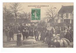 63 Montaigut En Combraille Le Foirail Cpa Edit Aubignat Cachet Montaigut 1908 - Montaigut
