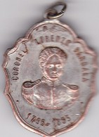 CORONEL LORENZO BARCALA. ARGENTINA CIRCA 1900's, PLAQUETA SIZE 3x3.5cm DIAM WEIGHT 14grs-BLEUP - Celebrities