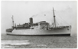 P & O RMS Strathnaver - Real Photo - Unused 1930s - Ships