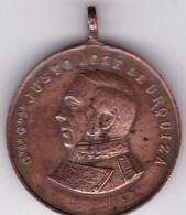 JOSE JUSTO DE URQUIZA. ARGENTINA CIRCA 1901.BELLAGAMBA Y ROSSI, MEDALLA SIZE 2.5cm DIAM WEIGHT 8grs-BLEUP - Berühmte Personen