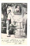 N69. Vintage German Song Postcard. Mullerlieder. Miller Maid In A Watermill. - Couples