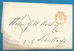 (D048) LAC De Enschede (càd ENSCHDE 16/7 En Rouge)  Vers SCHÜTTORF  16/7/1854 - Nederland