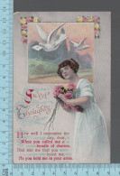 Fantaisies -Sweet Thoughts1908  - PUB: L. Grollman. CPA - Femmes