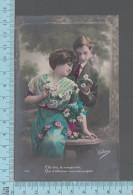 Fantaisies - Couple Et Marguerite  - PUB: Victoria 234 - CPA - Couples