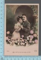 Fantaisies - Couple Et Fleurs  - PUB: VCircé 4608 - CPA - Couples
