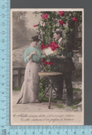 Fantaisies - Couple Et Fleurs  - PUB: Walery Paris # 1719 - CPA 1911 - Couples