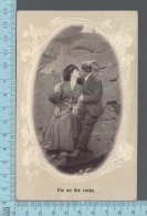"""Fantaisies - Couple , """" I'm On The Rocks  - PUB: Holmfirst # 9052- CPA 1911 - Couples"""