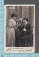 Fantaisies - Couple Medaille Fleurs, Je Veux Vous Decorer De L'ordre Du Bonheur  - PUB: SEB # 363- CPA 1910 - Couples