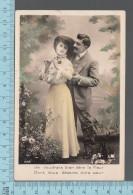 Fantaisies - Couple Medaille Fleurs, Je Voudrais Etre La Fleur Dont .....  - PUB: Photo # 2221- CPA - Couples