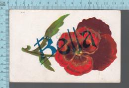Prénom  - Bella Sur Une Fleur, Carte Embossée, CPA - Prénoms