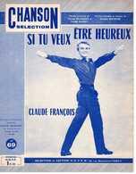61 80 CLAUDE FRANÇOIS SI TU VEUX ÊTRE HEUREUX VLINE BUGGY TWIST 1963 PIANO GUITARE GUIDA ROYSTER - Muziek & Instrumenten