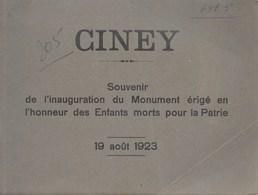 Ciney. Monuments 19 Août 1923. Rare - Geschichte