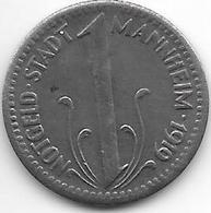 *notgeld Mannheim 10  Pfennig 1919 Fe 8773.3 - Germany