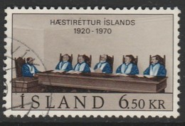 Iceland 1970 The 50th Anniversary Of The Icelandic Supreme Court 6.50 Kr Multicoloured SW 439 O Used - Used Stamps