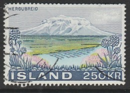 Iceland 1972 The Mountain Herdubreid 250 Kr Multicoloured SW 461 O Used - Used Stamps