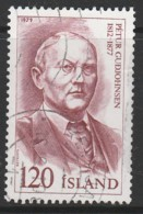 Iceland 1979 Famous Icelanders 120 Kr Reddish Brown SW 549 O Used - Used Stamps
