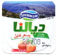 "Opercule Cover Yaourt Yogurt "" Soummam "" DIALNA Vue D'Algérie Fraise Strawberry Yoghurt Yoghourt Yahourt Yogourt - Opercules De Lait"