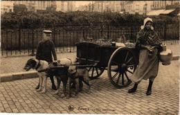1 Postcard  Dogchart  Hondenkar Attelage De Chien  Antwerpen  Laitière Anversoise Edit. Nels   1922 - Chiens