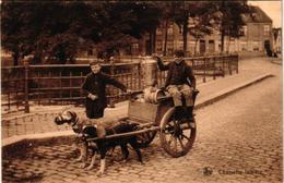 1 Postcard  Dogchart  Hondenkar Attelage De Chien  Melkkar  Charrette Laitière  Edit.  Nels N°37 - Chiens