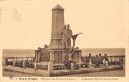 BLANKENBERGHE - Monument De Bruyne Et Lippens - Gedenksteen De Bruyne En Lippens - Blankenberge