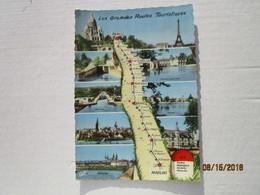CP 03 Borne Kilomètrique  N7 - PARIS  > Montargis  > Nevers >  MOULINS  - Les Grandes Routes  Touristiques  RN 7 En 1961 - Moulins