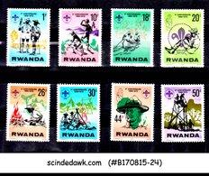 RWANDA - 1978 10th ANNIVERSARY OF BOY SCOUTS - 8V - MINT NH - 1970-79: Mint/hinged