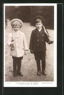 CPA Kronprinz Olaf Von Norwegen Et Prinz George Von Wales - Familles Royales
