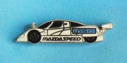 1 PIN'S  //   ** MAZDASPEED / FOURNISSEUR DE PIÈCES AUTO DE MAZDA ** . (Arthus Bertrand Paris) - Badges