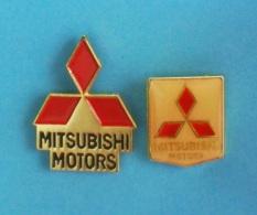 2 PIN'S  //   ** LOGOS / MITSUBISHI MOTORS ** - Mitsubishi