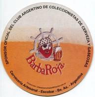 Lote A42, Argentina, Posavaso, Coaster, Barbaroja, 2009 - Beer Mats