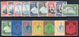 Bermuda 1938-53 Set Of 16 Fine Unmounted Mint. - Bermuda