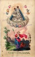 SANCTA JULIANNA, SAINT JULIANNA, 1878, WAX PAPER, 8.8X14.2 CM - Devotion Images